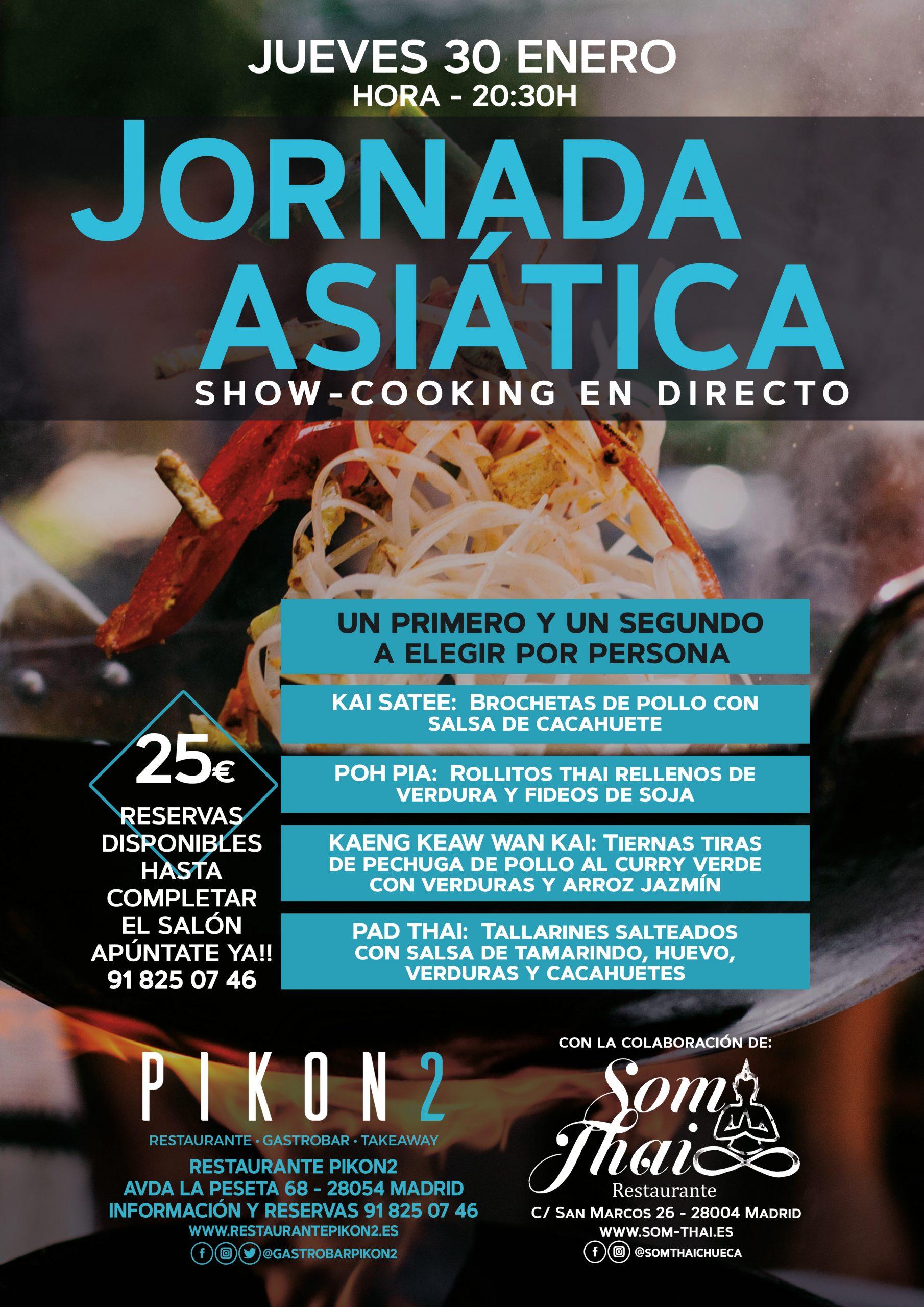 jornada asiática show cooking en restaurante en carabanchel Pikon2 en Madrid
